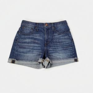 J. Crew High-Rise Denim Shorts in Brixton Wash